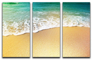 Wave of sea water and sand 3 Split Panel Canvas Print - Canvas Art Rocks - 1