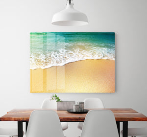 Wave of sea water and sand HD Metal Print - Canvas Art Rocks - 2