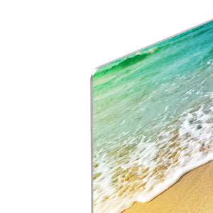 Wave of sea water and sand HD Metal Print - Canvas Art Rocks - 4