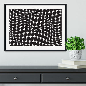 Wavy Circles Framed Print - Canvas Art Rocks - 1