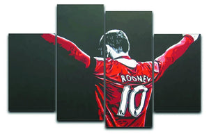 Wayne Rooney 4 Split Panel Canvas  - Canvas Art Rocks - 1