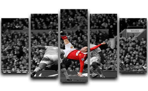 Wayne Rooney Bicycle Kick 5 Split Panel Canvas  - Canvas Art Rocks - 1