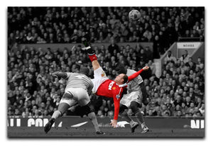 Wayne Rooney Bicycle Kick Print - Canvas Art Rocks - 1