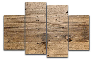 Weathered wood 4 Split Panel Canvas - Canvas Art Rocks - 1