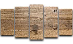 Weathered wood 5 Split Panel Canvas - Canvas Art Rocks - 1