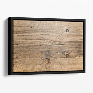 Weathered wood Floating Framed Canvas - Canvas Art Rocks - 1