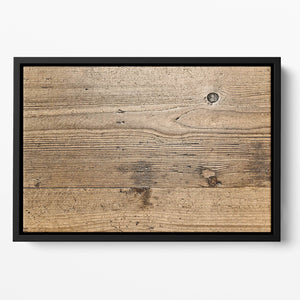 Weathered wood Floating Framed Canvas