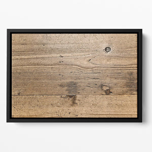 Weathered wood Floating Framed Canvas - Canvas Art Rocks - 2