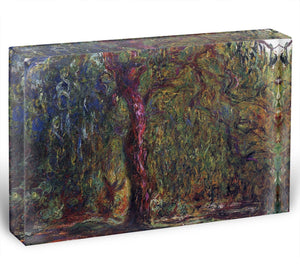 Weeping willow by Monet Acrylic Block - Canvas Art Rocks - 1