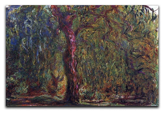 Weeping willow by Monet Canvas Print or Poster