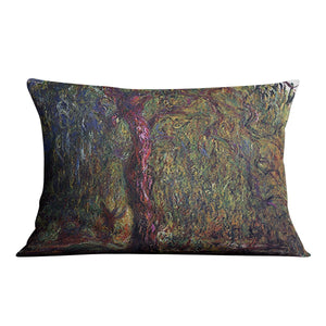 Weeping willow by Monet Throw Pillow