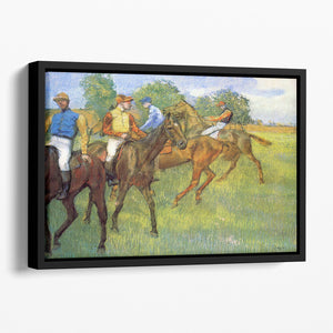 Weigh out by Degas Floating Framed Canvas