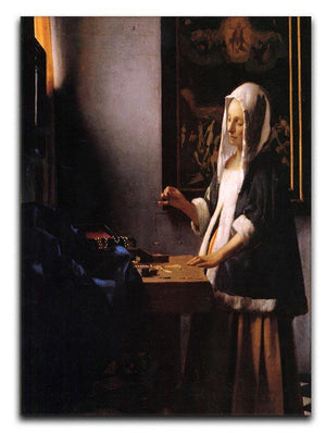 Weights by Vermeer Canvas Print or Poster - Canvas Art Rocks - 1