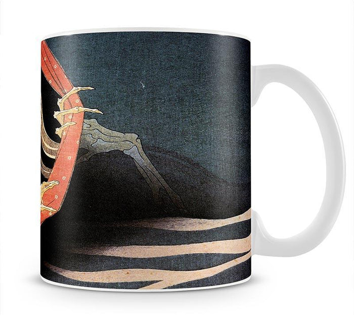 Weird Skeleton by Hokusai Mug