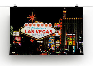 Welcome To Las Vegas At Night Print - Canvas Art Rocks - 2