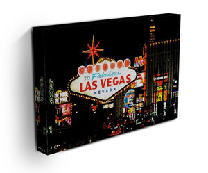 Welcome To Las Vegas At Night Print - Canvas Art Rocks - 3