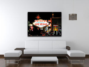 Welcome To Las Vegas At Night Print - Canvas Art Rocks - 4