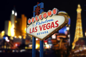 Welcome to Fabulous Las Vegas Neon Sign Wall Mural Wallpaper - Canvas Art Rocks - 1