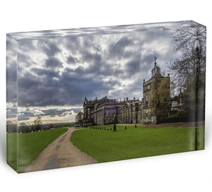Wentworth Woodhouse Hall Acrylic Block - Canvas Art Rocks - 1