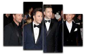 Westlife 4 Split Panel Canvas  - Canvas Art Rocks - 1