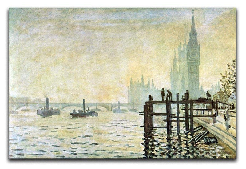 Westminster Bridge in London by Monet Canvas Print & Poster  - Canvas Art Rocks - 1