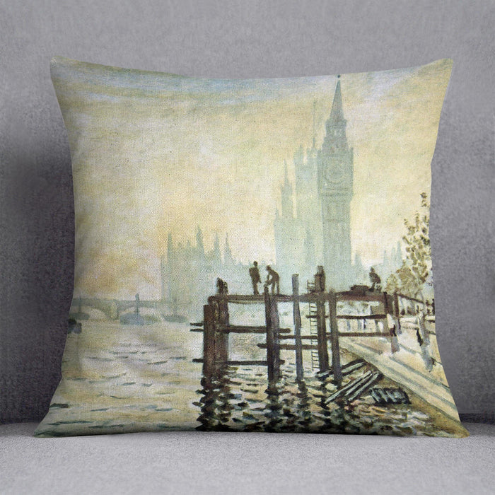 Westminster Bridge in London by Monet Throw Pillow