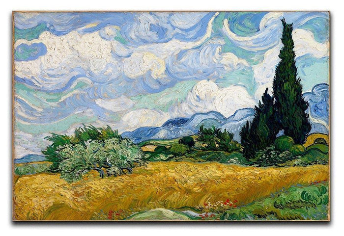 Wheat Field with Cypresses Canvas Print or Poster