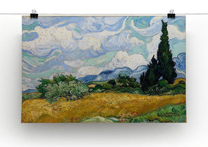 Wheat Field with Cypresses Canvas Print & Poster - Canvas Art Rocks - 2