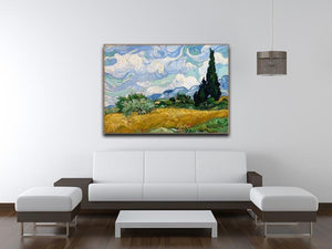 Wheat Field with Cypresses Canvas Print & Poster - Canvas Art Rocks - 4