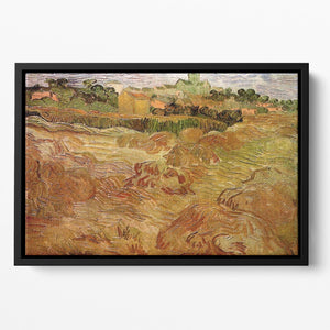 Wheat Fields with Auvers in the Background by Van Gogh Floating Framed Canvas