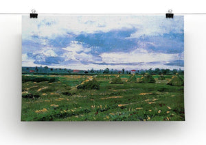 Wheat Fields with Stacks by Van Gogh Canvas Print & Poster - Canvas Art Rocks - 2