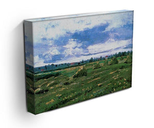 Wheat Fields with Stacks by Van Gogh Canvas Print & Poster - Canvas Art Rocks - 3