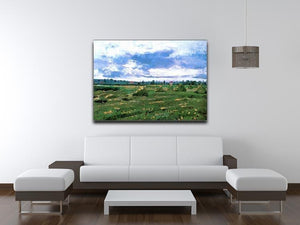 Wheat Fields with Stacks by Van Gogh Canvas Print & Poster - Canvas Art Rocks - 4