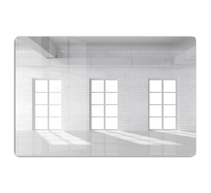 White brick loft with window HD Metal Print