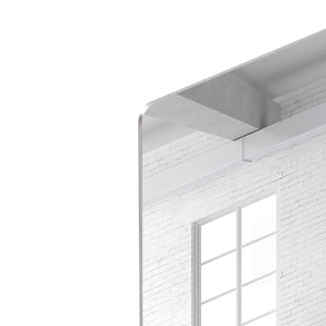 White brick loft with window HD Metal Print - Canvas Art Rocks - 4