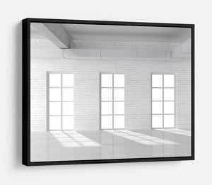 White brick loft with window HD Metal Print - Canvas Art Rocks - 6