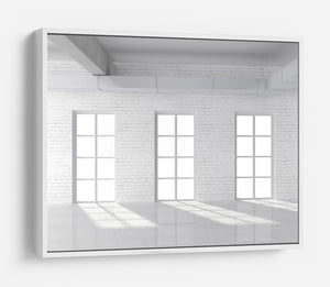 White brick loft with window HD Metal Print - Canvas Art Rocks - 7