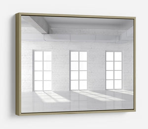White brick loft with window HD Metal Print - Canvas Art Rocks - 8