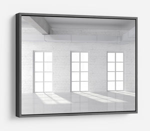 White brick loft with window HD Metal Print - Canvas Art Rocks - 9