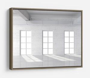 White brick loft with window HD Metal Print - Canvas Art Rocks - 10