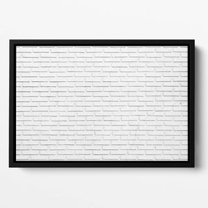 White brick wall Floating Framed Canvas