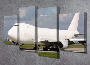 White cargo plane taxi 4 Split Panel Canvas  - Canvas Art Rocks - 2