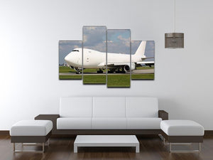 White cargo plane taxi 4 Split Panel Canvas  - Canvas Art Rocks - 3