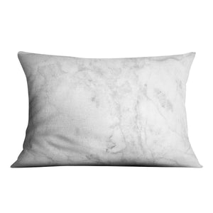 White gray marble patterned Cushion - Canvas Art Rocks - 4