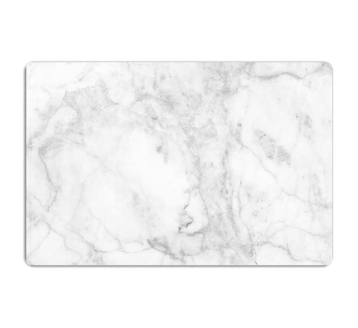 White gray marble patterned HD Metal Print
