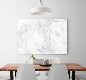 White gray marble patterned HD Metal Print - Canvas Art Rocks - 2