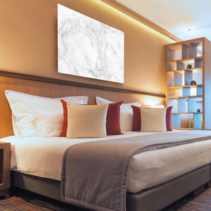 White gray marble patterned HD Metal Print - Canvas Art Rocks - 3