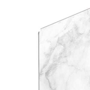 White gray marble patterned HD Metal Print - Canvas Art Rocks - 4
