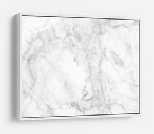 White gray marble patterned HD Metal Print - Canvas Art Rocks - 7