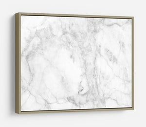 White gray marble patterned HD Metal Print - Canvas Art Rocks - 8